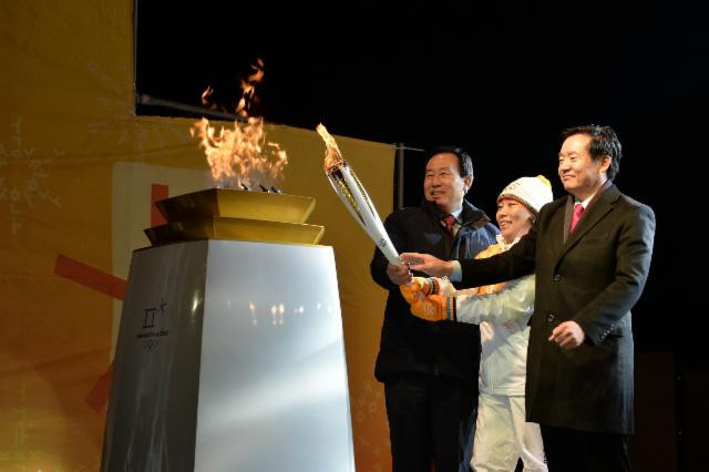 The Olympic flame is rekindled in South Korea today as the Torch Relay continues its journey ©Pyeongchang 2018