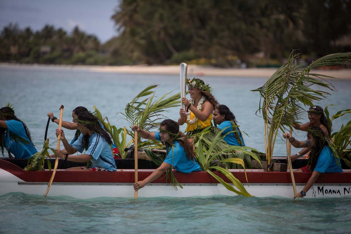 The Cook Islands aimed to highlight the issue of climate change ©Gold Coast 2018