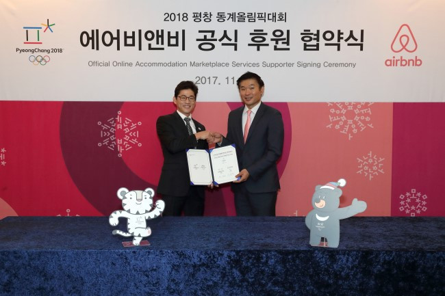 Airbnb signs agreement to handle Pyeongchang 2018 visitor influx
