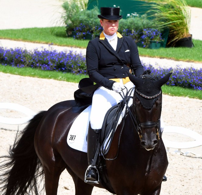 German rider Isabell Werth, seen here on Weihegold Old in July during the World Equestrian Festival , has been named Longines' Best Athlete at an awards ceremony in Uruguay ©Getty Images