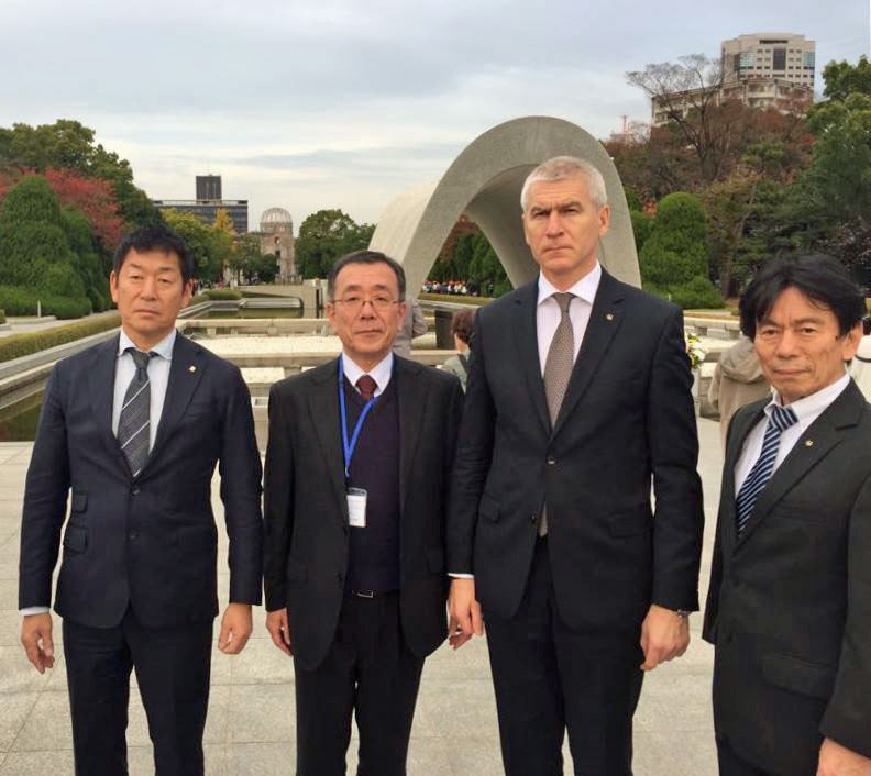 FISU President Matytsin visits Hiroshima to discuss university sports projects