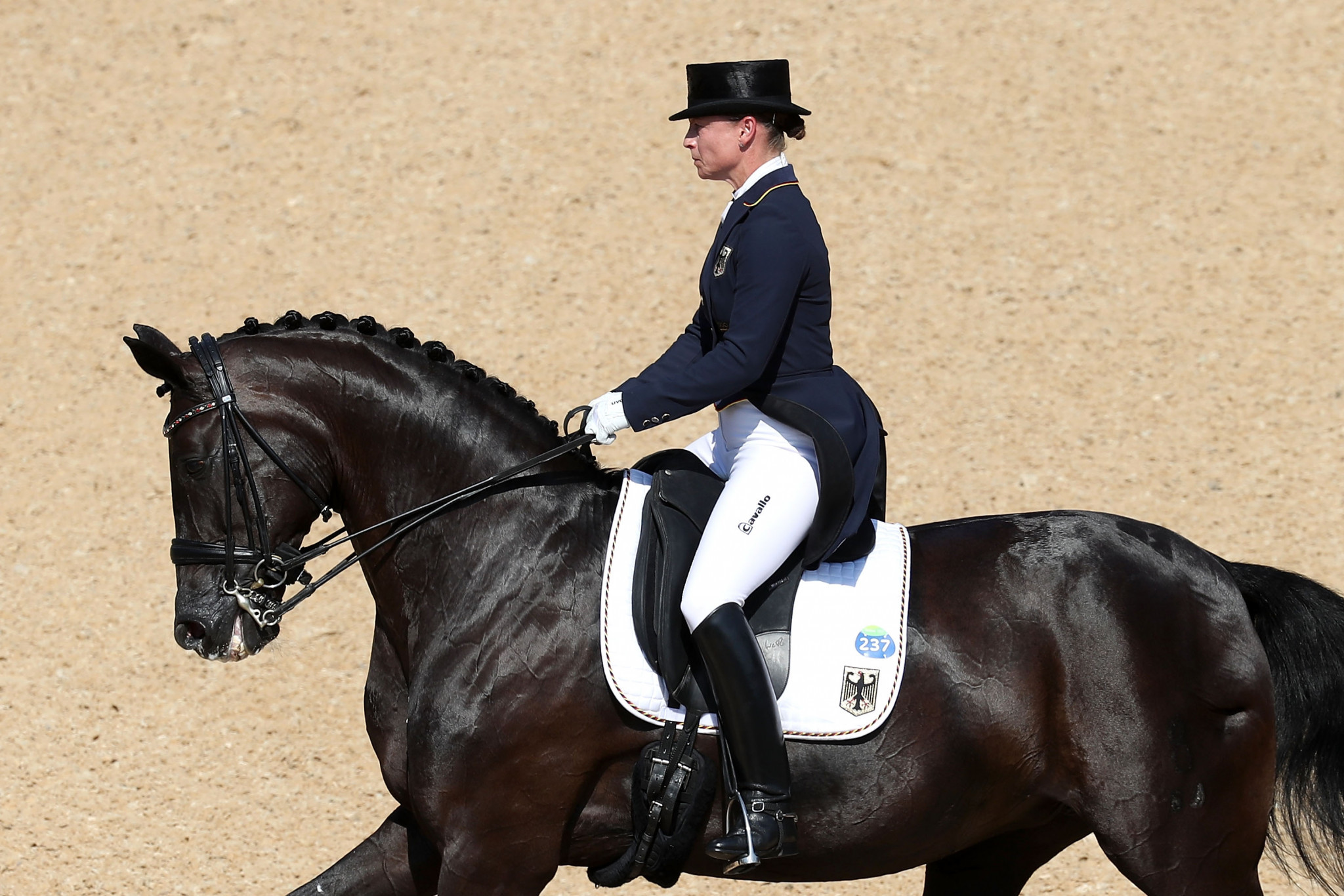 2017 proved to be quite some year for Isabell Werth, of Germany, seen here riding Weihegold Old in the Dressage at Rio 2016 ©Getty Images