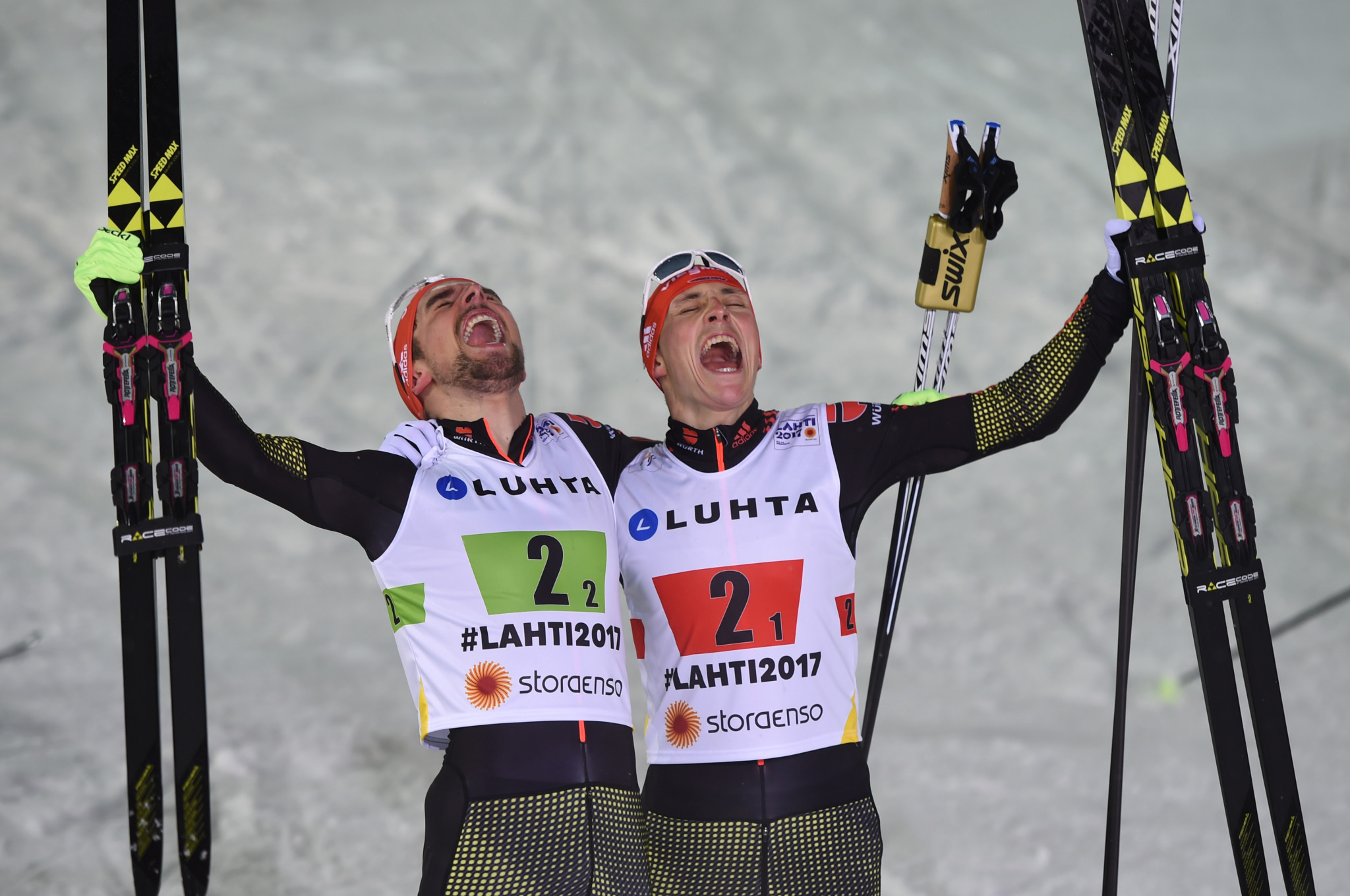 Olympic gold medallist Eric Frenzel and reigning world champion Johannes Rydzek are set to renew their rivalry ©Getty Images