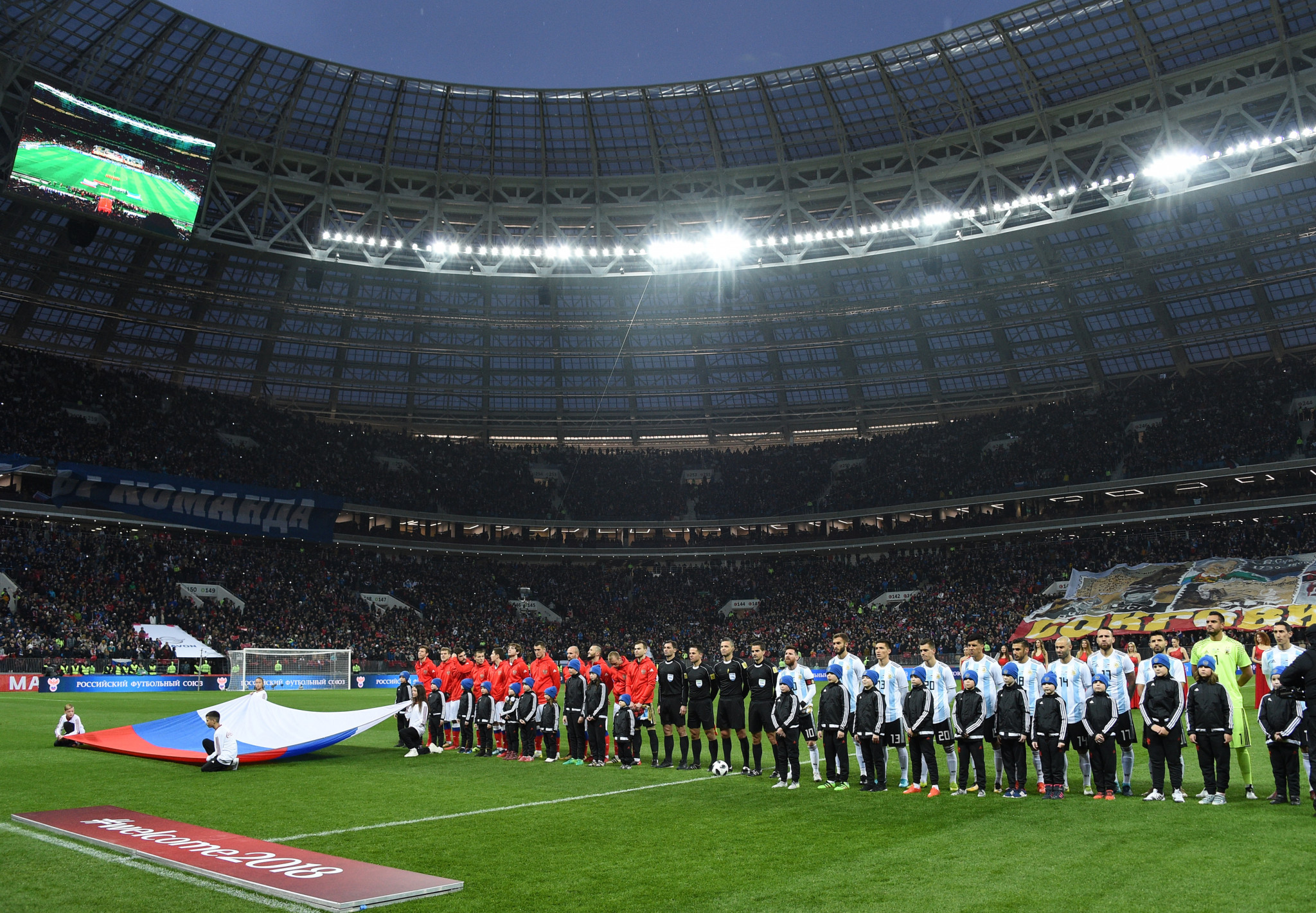 Russian World Cup officials promise not to repeat mistakes of opening match at Luzhniki Stadium