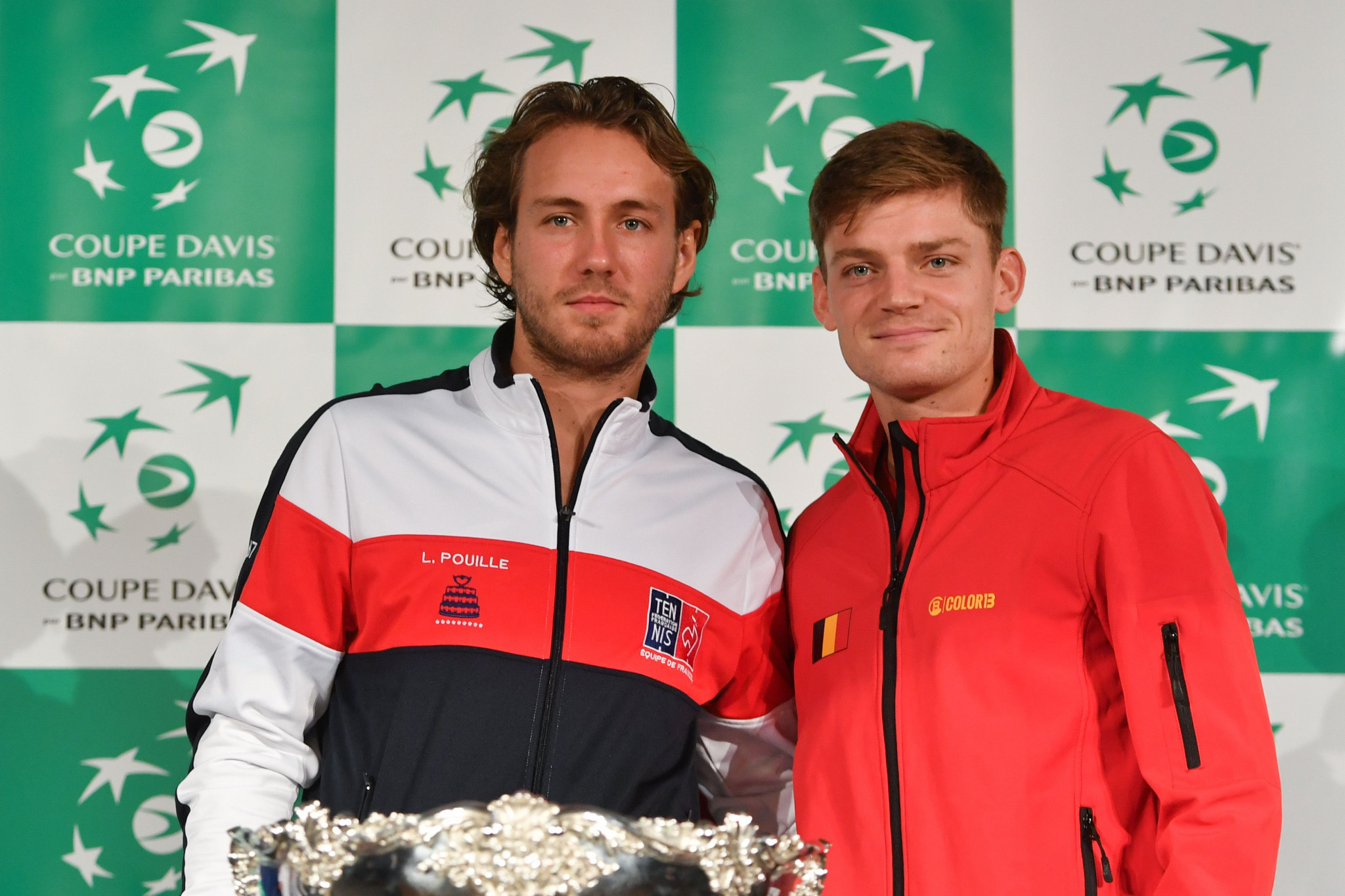 David Goffin and Lucas Pouille will put their friendship to one side when they kick off the 2017 Davis Cup by BNP Paribas Final on Friday ©Getty Images