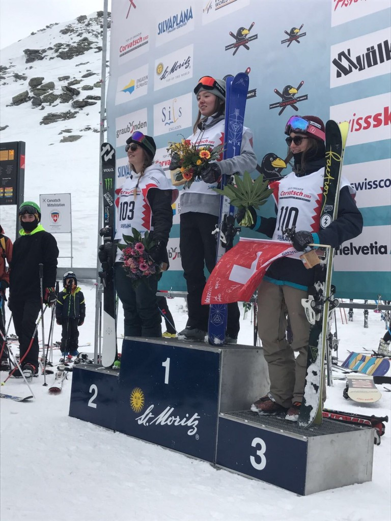Britain's Izzy Atkin secured her country's first-ever Slopestyle World Cup gold medal  last March  ©British Ski and Snowboard