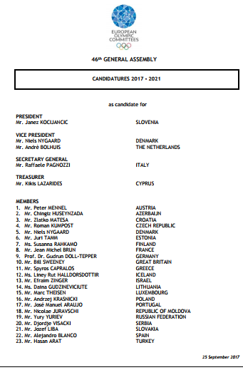 Candidates standing for EOC positions ©EOC