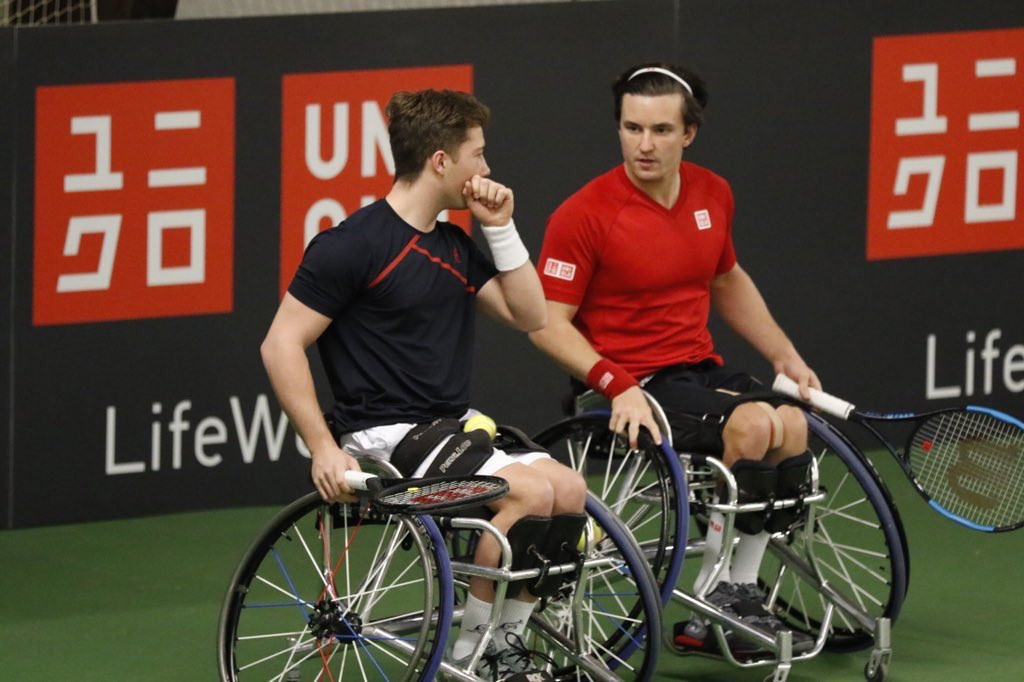 Reid and Hewitt stage remarkable comeback to win at UNIQLO Wheelchair Doubles Masters