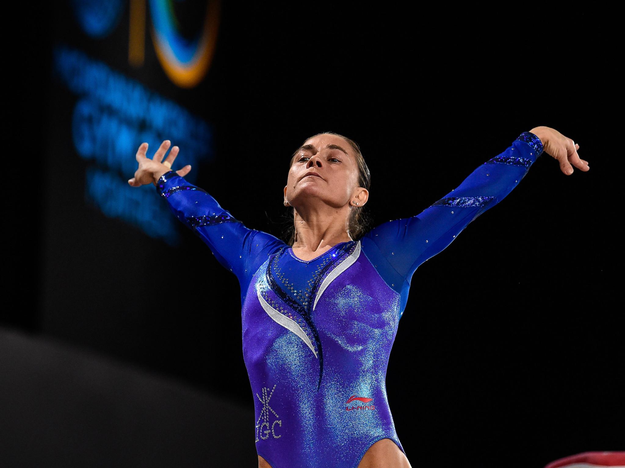 Veteran Chusovitina tops vault qualification at FIG Individual Apparatus World Cup