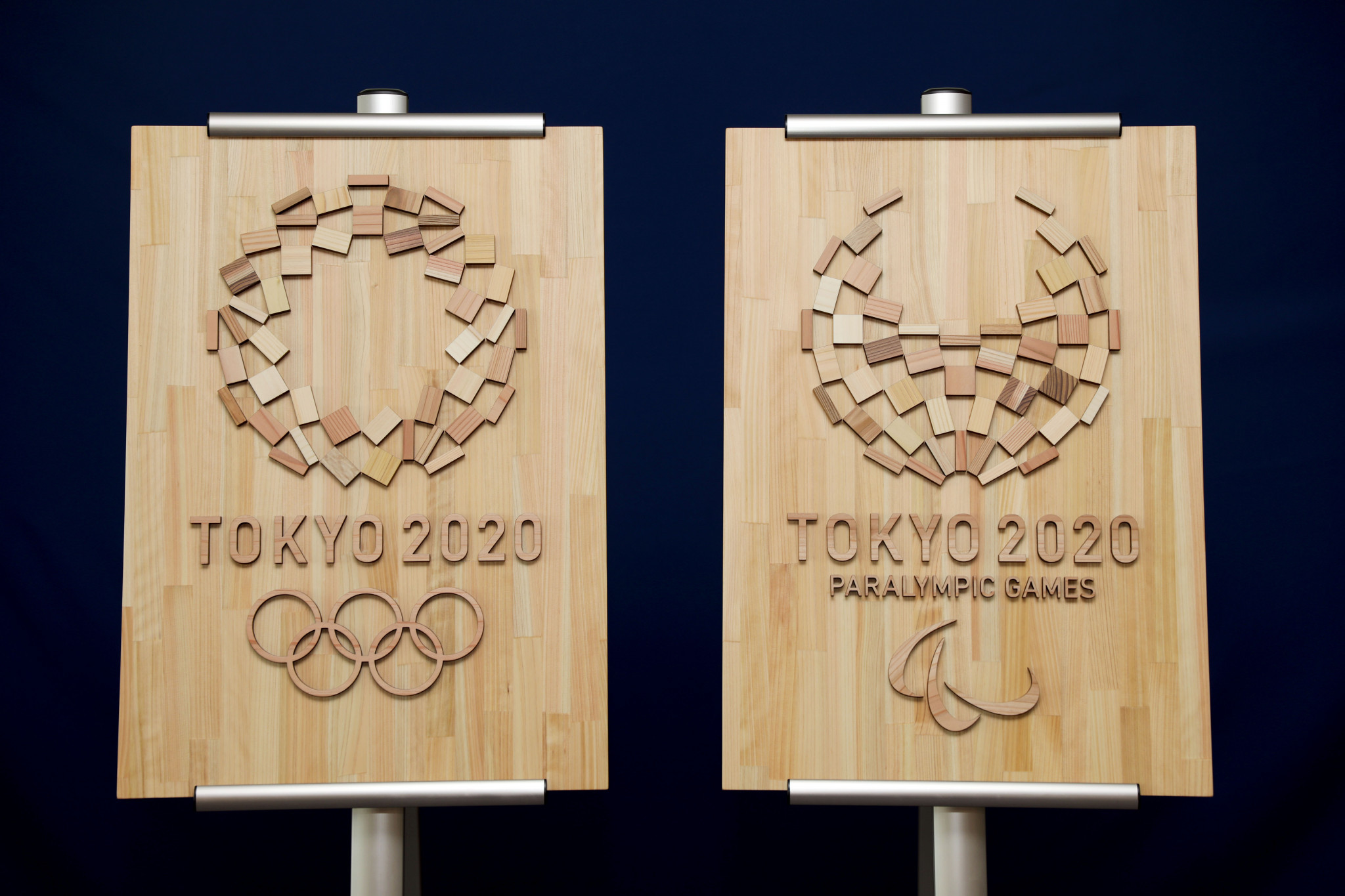 Emblems, made from Japanese timber, are part of the Tokyo 2020 Operation BATON project ©Tokyo 2020