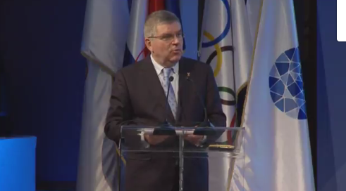 Thomas Bach warned Russia and others against attempts to influence IOC decisions ©EOC