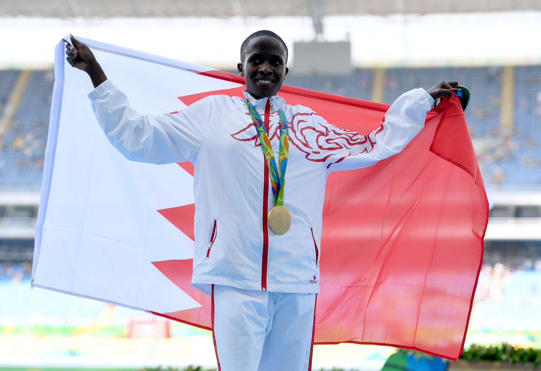 All three of Bahrain's Olympic medallists are female, including Ruth Jebet ©Getty Images