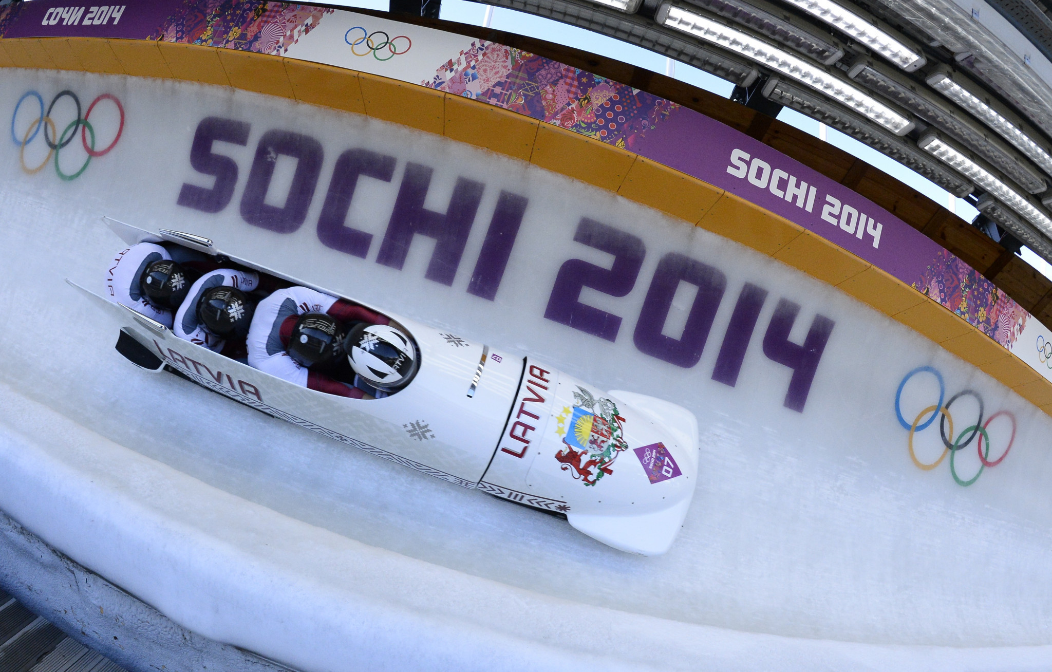 Latvia are set to be upgraded to the gold medal in the four-man event ©Getty Images