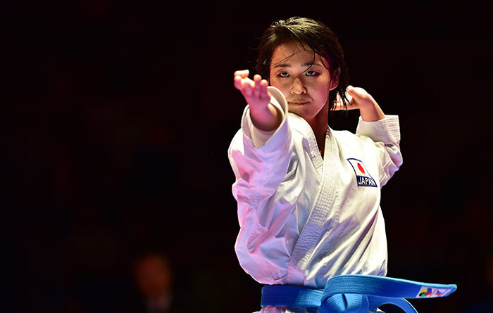 Japan's reigning world champion Kiyou Shimizu is among the favourites in the women's kata tournament ©WKF