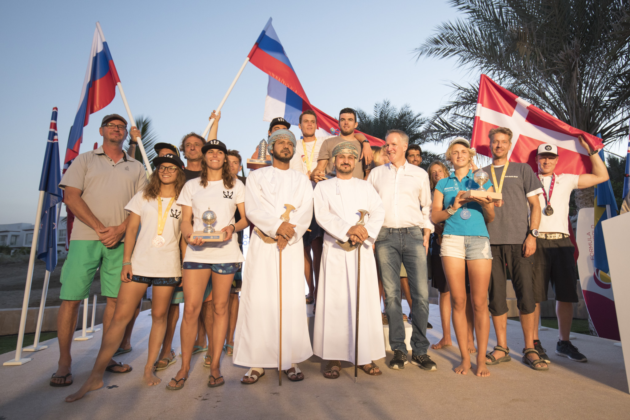 Riders from 22 different countries and six continents came to the event in Oman ©IKA Formula Kite World Championship