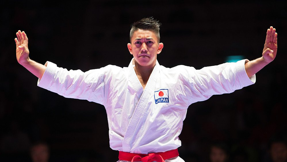 Japanese star Ryo Kiyuna clinched his seventh gold medal of the season in Okinawa ©WKF