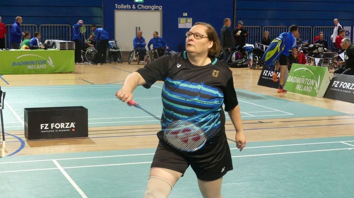 German top seed Katrin Seibert crashed out at the quarter-final stage of the women's SL 4 event ©German Badminton Federation