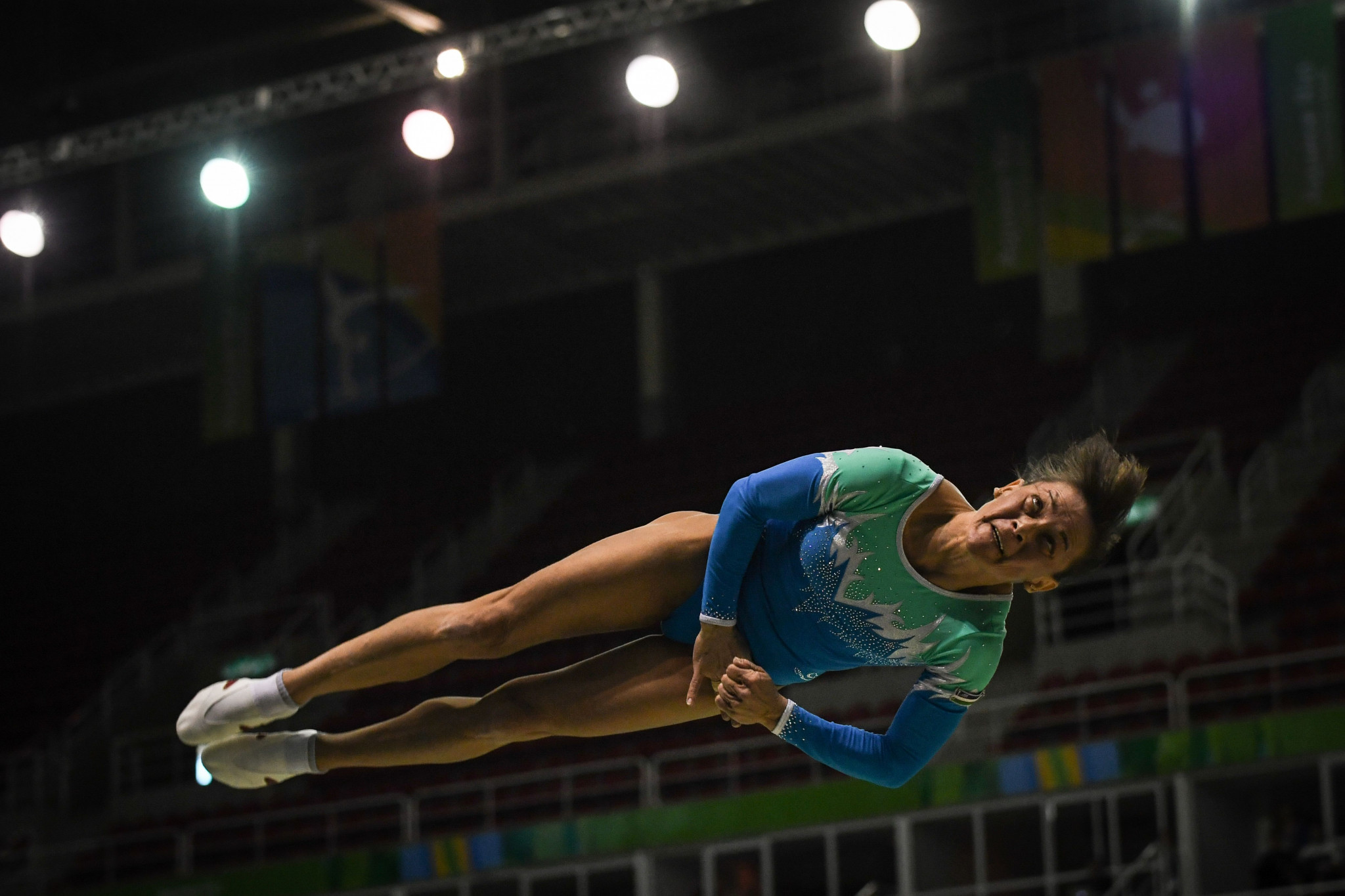 Uzbekistan veteran Oksana Chusovitina secured her 15th victory in the German city as she topped the podium in the women's vault ©Getty Images