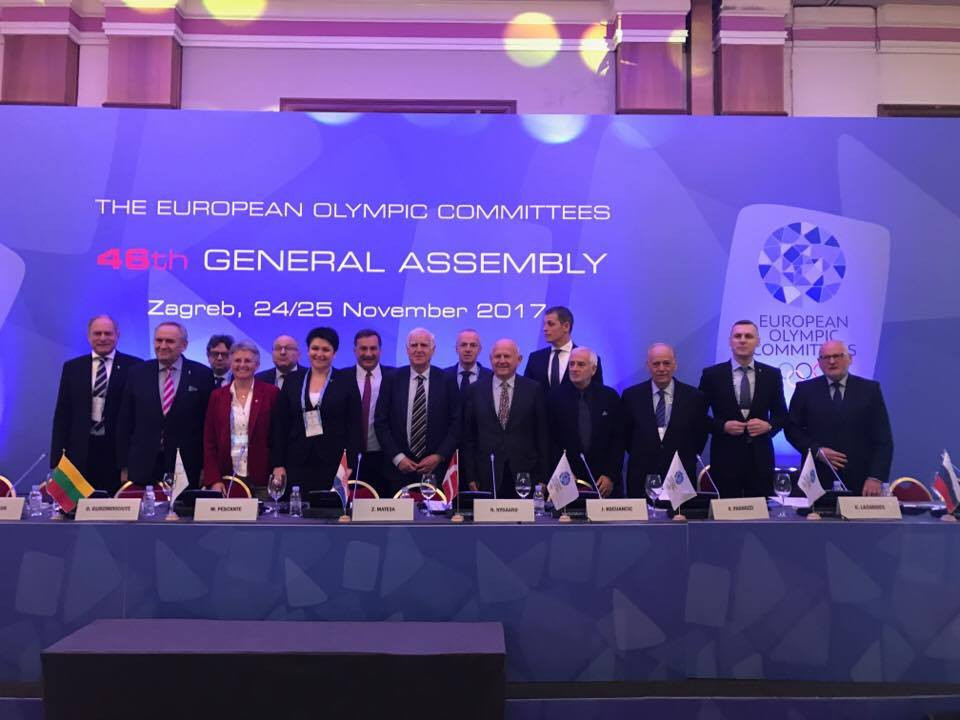 Janez Kocijančič and Niels Nygaard, both front centre, have been elected to the two leading positions in the EOC Executive Committee ©ITG