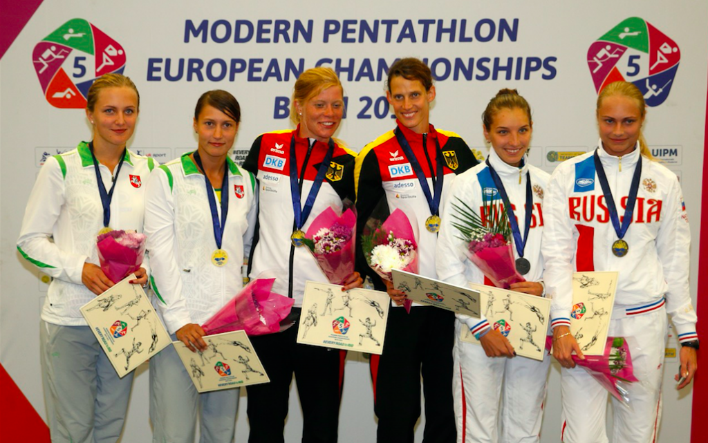 Consistent Schoneborn and Schleu claim women's relay gold for Germany at Modern Pentathlon European Championships