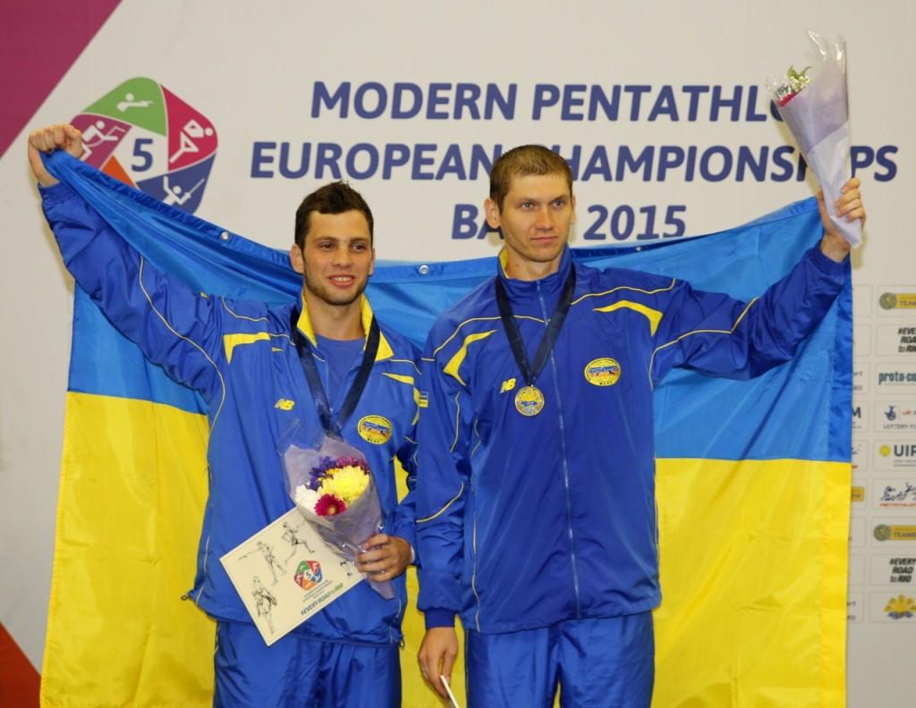 Ukraine's Dmytro Kirpulyanskyy and Yuriy Fedechko overtook Russia in the combined event to take gold
