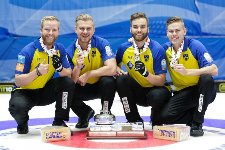Sweden clinched their fourth consecutive men's crown as they overcame Scotland 10-5 ©WCF
