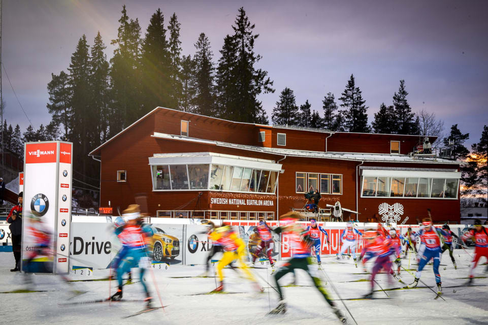Biathletes compete in the season-opening event ©IBU