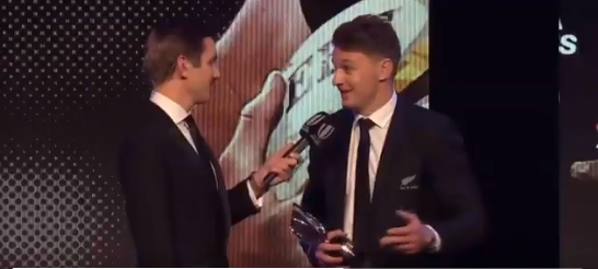 All Black Barrett wins second successive World Rugby Player of the Year award