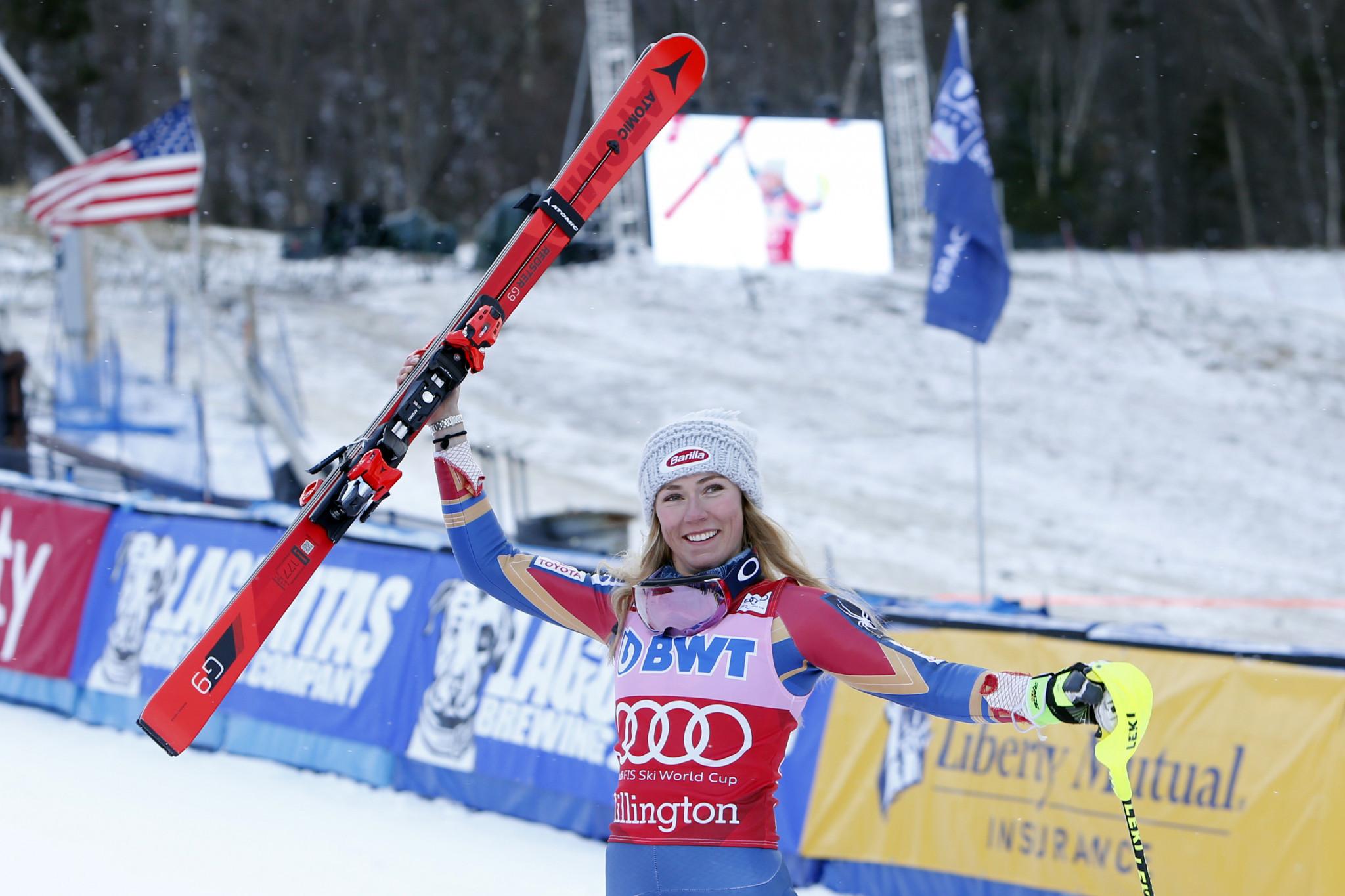 Shiffrin dominates women's slalom at FIS Alpine Skiing World Cup in Killington