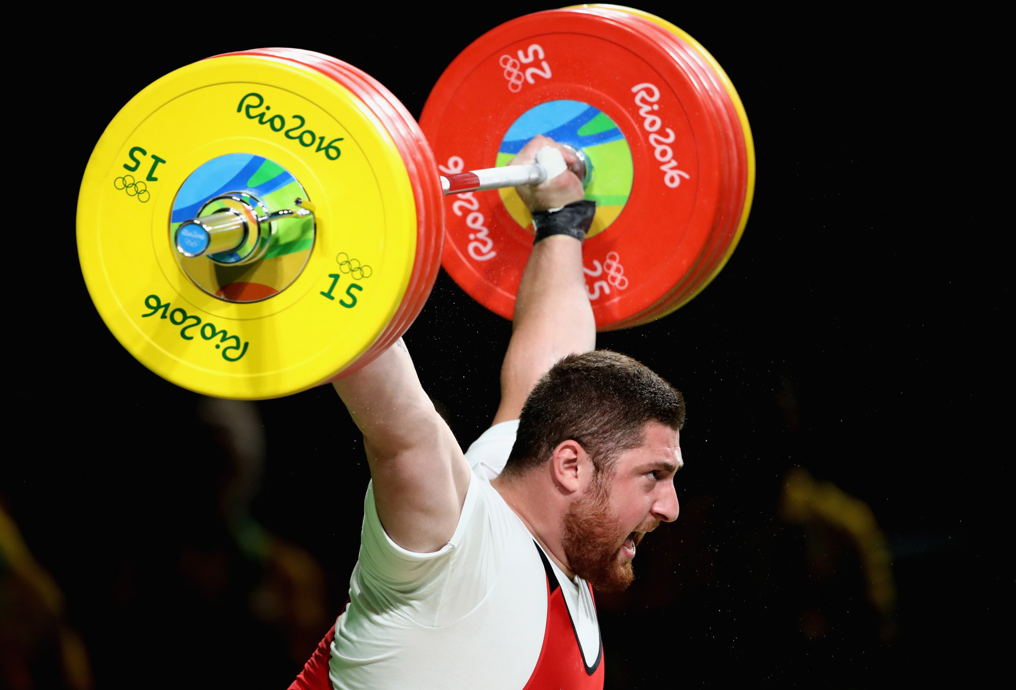 Georgia's Lasha Talakhadze was Kianoush Rostami's closest rival for the title of male Weightlifter of the Year ©Getty Images