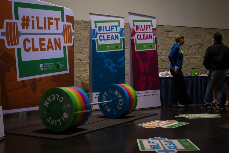 There is an interactive information booth and pledge to clean sport that athletes, coaches and other team officials can visit ©Lifting Life