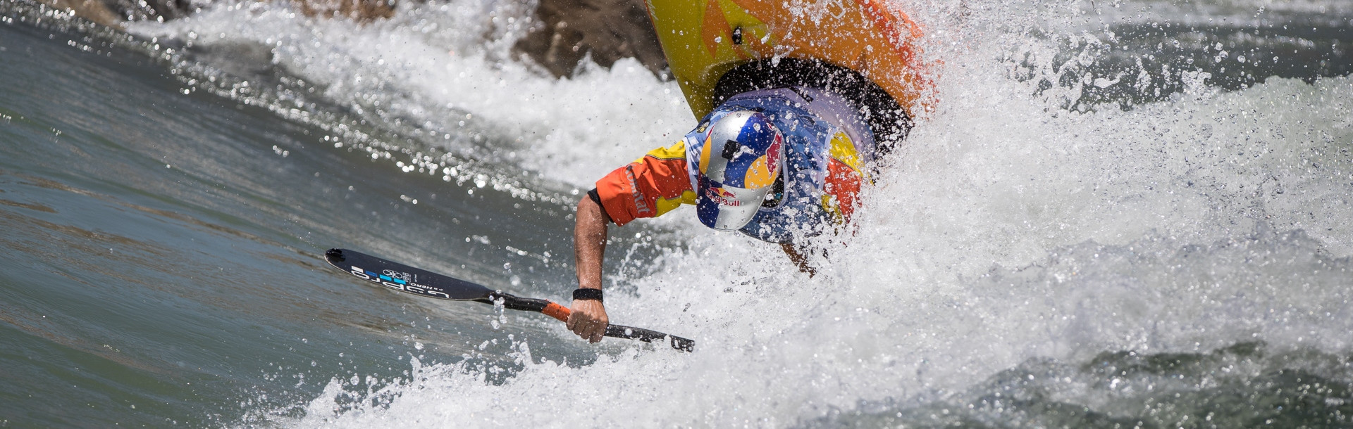 American Dane Jackson produced a dominant display in the preliminary rounds of the men's kayak senior event at the ICF Canoe Freestyle Kayak Championships ©ICF/Peter Holcombe