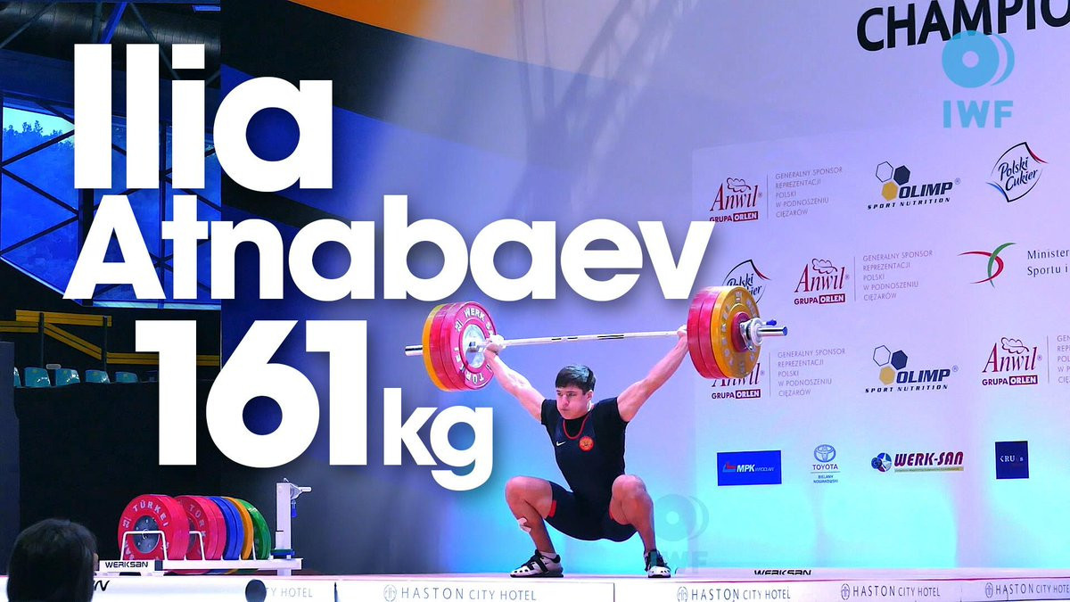 Ilya Atnabayev had been a major weightlifting medal prospect before failing a drugs test in 2015 ©IWF