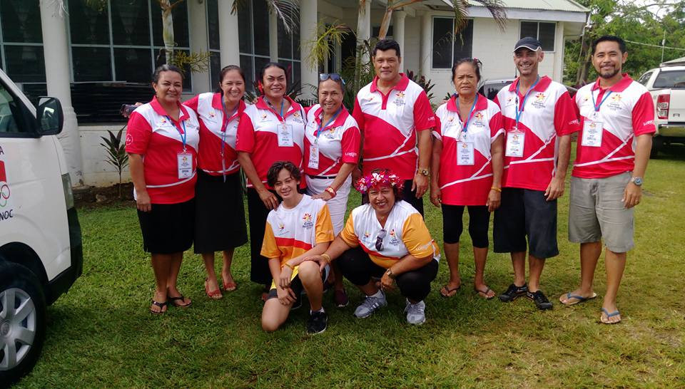 Samoa are one of the latest nations to be visited by the Gold Coast 2018 Baton ©SASNOC
