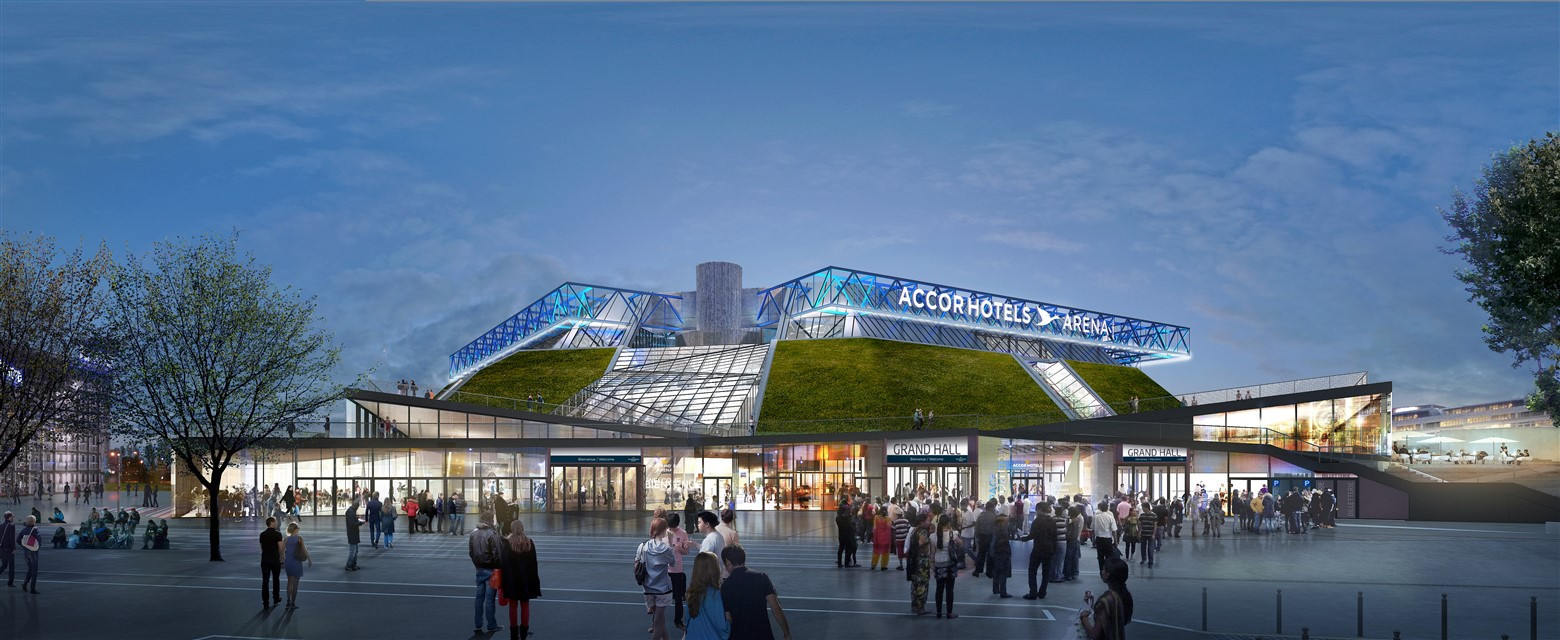The new Bercy Arena 2 was due to be adjacent to the Arena 1, which is also known as the AccorHotels Arena ©AccorHotels Arena