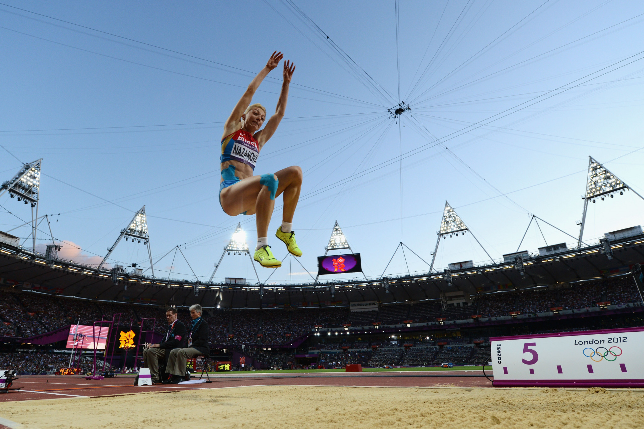 Long jumper Anna Nazarova has been disqualified from London 2012 by the IOC ©Getty Images