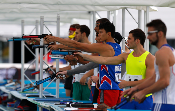 Hungarian and Lithuanian athletes top qualification for men's final at Modern Pentathlon European Championships