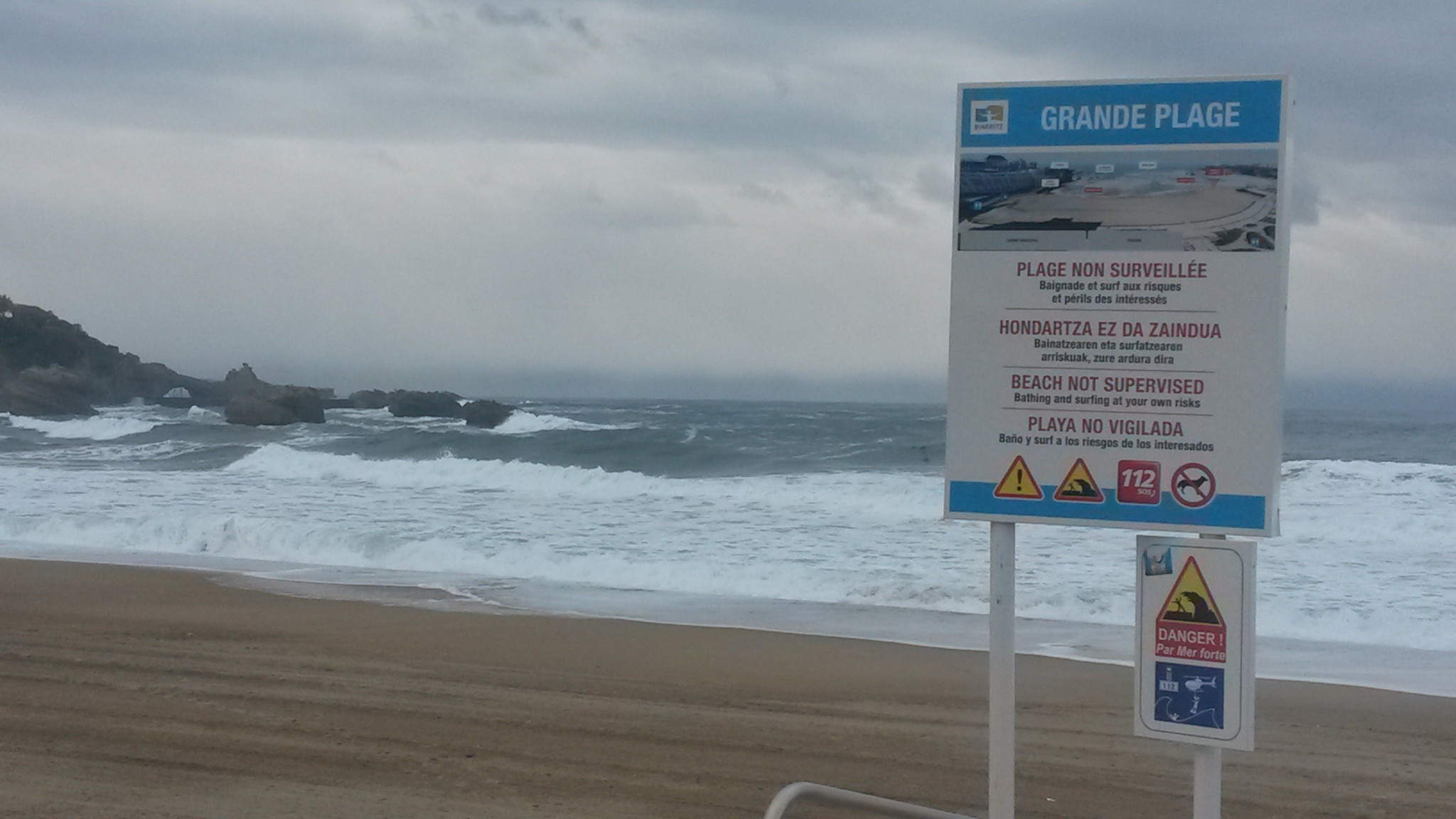 There were heavy seas on the Grand Plage at Biarritz today as competitors for this weekend's IFBB World Fitness Championships gathered at the beachside Casino Municipal venue ©ITG