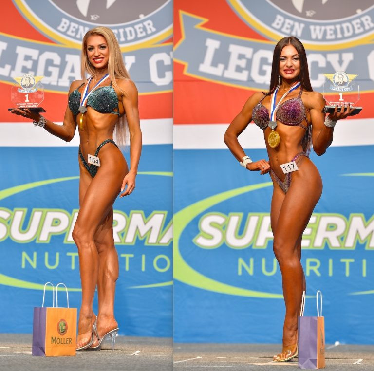 The battle between Russia's Natalia Lugovskikh and Oksana Brygdyr of Ukraine in the bikini fitness category is expected to be the highlight of the IFBB World Fitness Championships in Biarritz ©IFBB