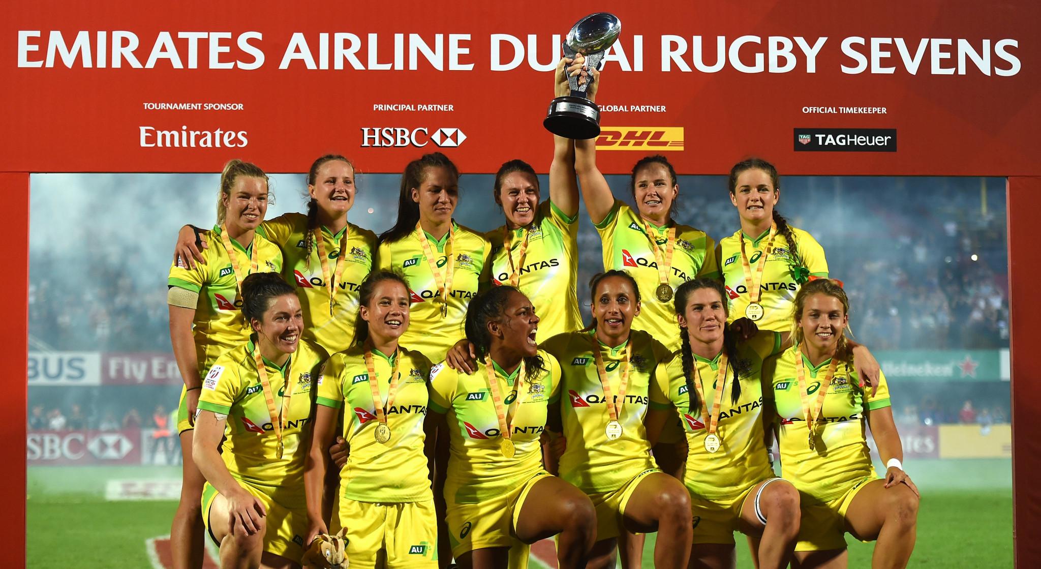 Australia thrash United States to win season-opening World Rugby Women's Sevens Series leg in Dubai