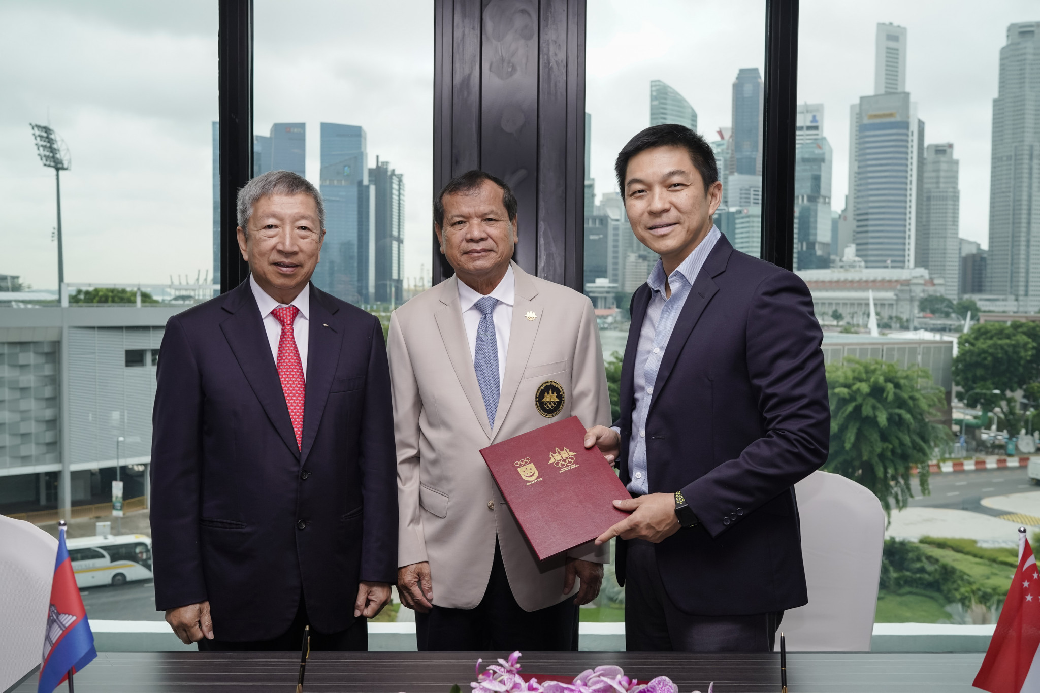 MoU signed between National Olympic Committees of Singapore and Cambodia