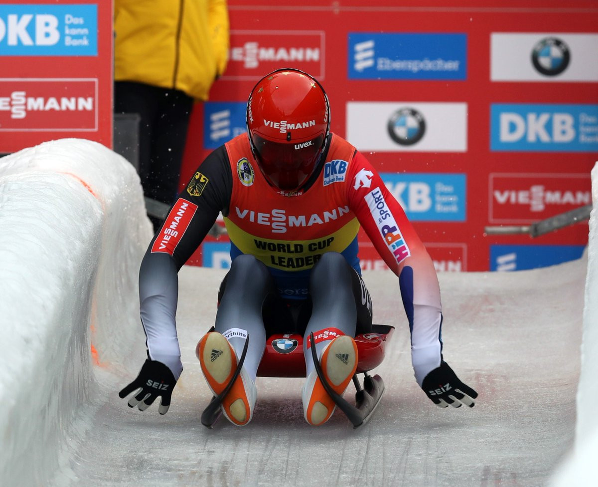 Felix Loch is yet to be defeated in this season's FIL Luge World Cup ©FIL