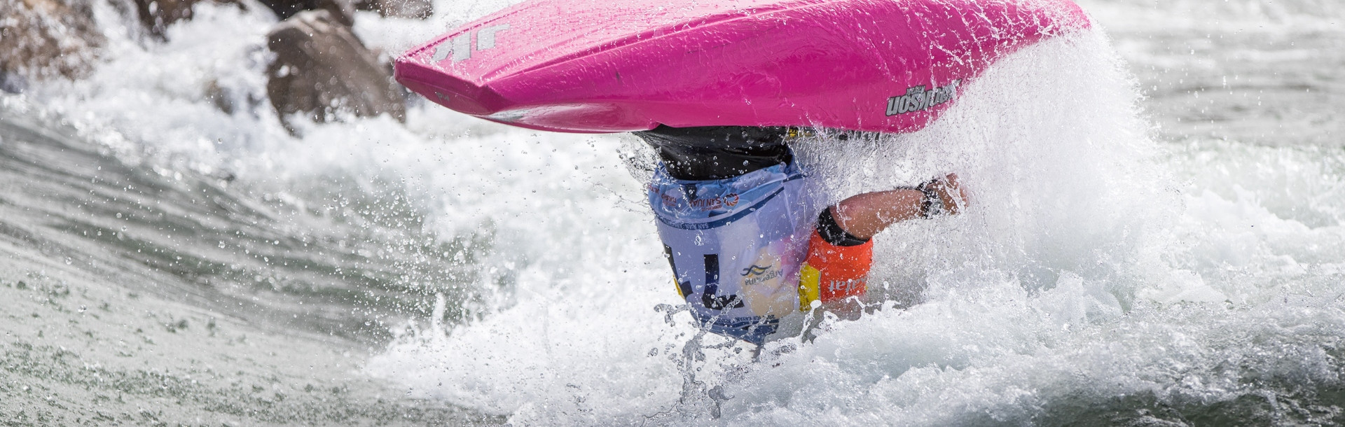 The United States' Dane Jackson claimed his third men's canoe world title as action concluded today at the 2017 ICF Canoe Freestyle Kayak Championships in San Juan in Argentina ©ICF/Peter Holcombe