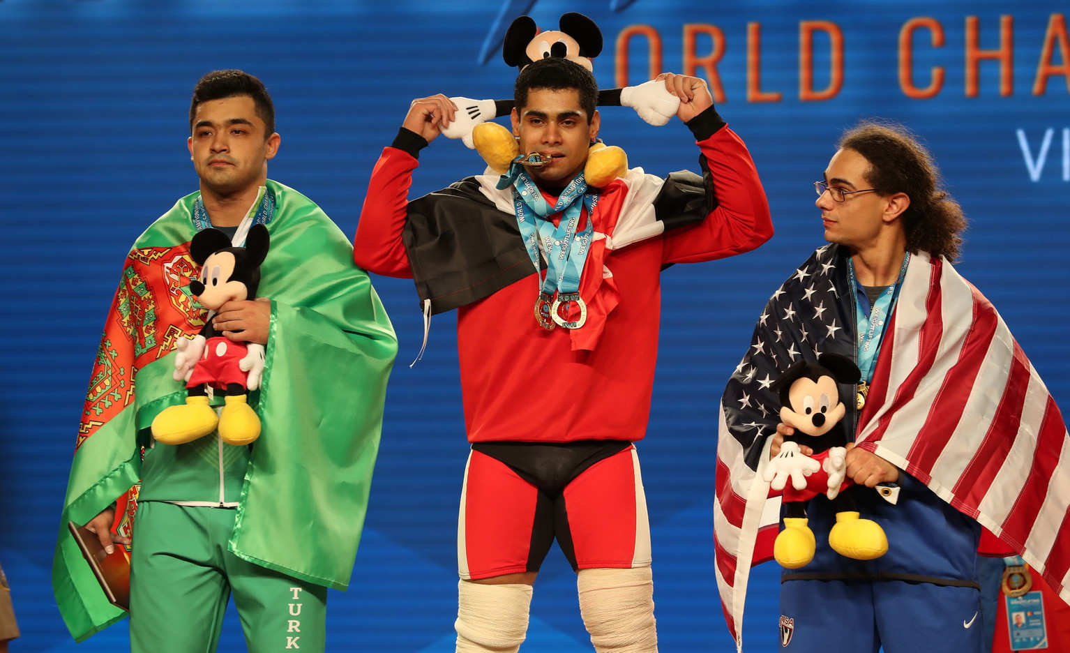 Mahmoud cruises to men's 77kg title as Maurus ends US's 20-year medal drought at IWF World Championships