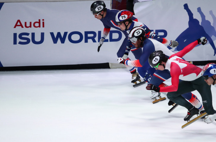 The ISU has recently renewed its commercial partnership with Audi, which sponsors ISU World Cup Short Track Speed Skating.©Getty Images
