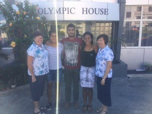 Fijian scholarship athletes receive Olympic House send-off