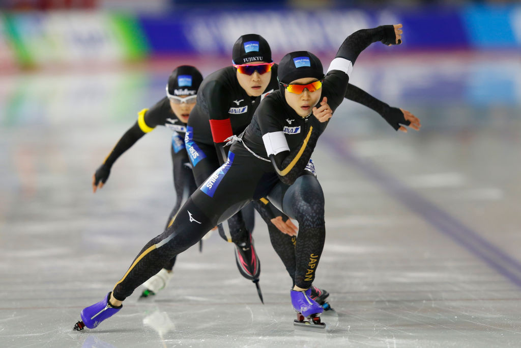 Japan break women's team pursuit record for second time this season at ISU Speed Skating World Cup
