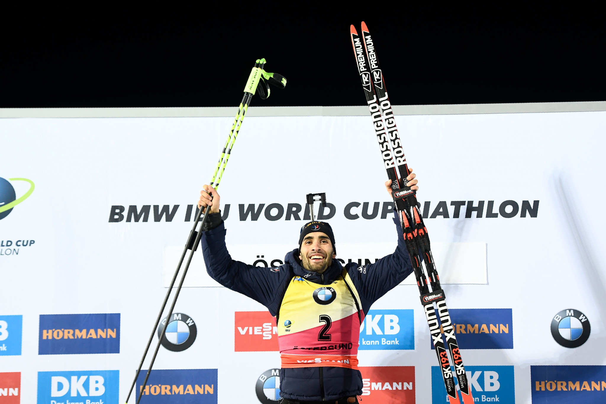 Defending men's champion Martin Fourcade returned to form with his first victory of the season ©Getty Images