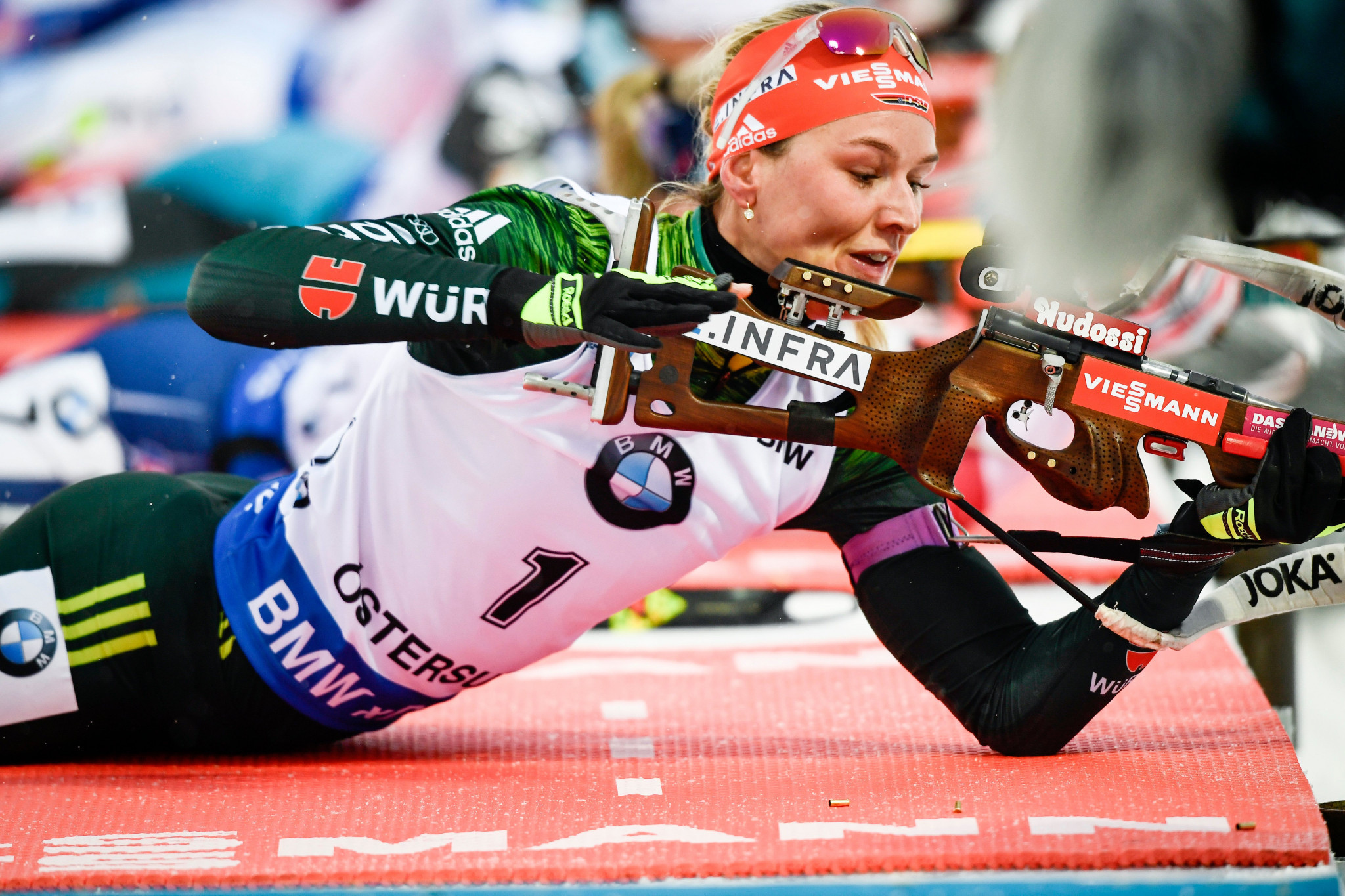 Germany's Denise Herrmann secured her second straight victory in Östersund by winning the women's pursuit ©Getty Images