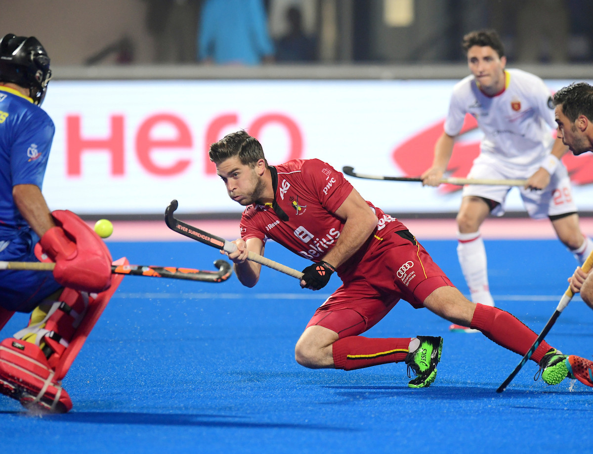 Olympic silver medallists Belgium maintained their 100 per cent start to the Men's Hockey World League Final as they thrashed Spain 5-0 ©FIH